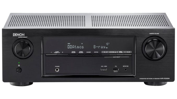 Denon AVRX1200WBKE2 7.1 Surround AV-Receiver (Dolby Atmos, dtsX, WLAN, Bluetooth, Spotify Connect, 5 Plus 1 HDMI 3D, 4K, HDCP 2.2, App steuerbar , 7x 145 Watt) schwarz